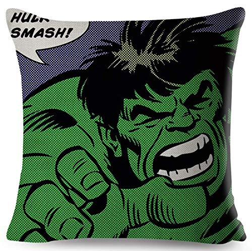 The Beach Stop Superhero Character Cushion Cover (Hulk Smash)