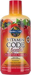 Garden of Life Multivitamin - Vitamin Code Liquid Raw Whole Food Vitamin, Vegetarian Supplement, No Preservatives, Fruit P...