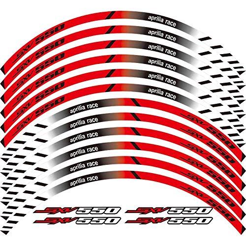 Calcomanías de rueda de rotura exterior de borde de borde de 12 x