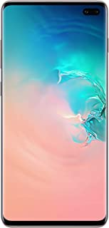 هاتف سامسونج جالكسي اس 10 بلس ثنائي شرائح الاتصال - 128 جيجا، ذاكرة رام 8 جيجا، الجيل الرابع ال تي اي، ابيض سيراميكي