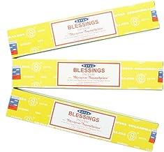 Satya Nag Champa Blessings Incense Sticks - 3 Packs by Satya