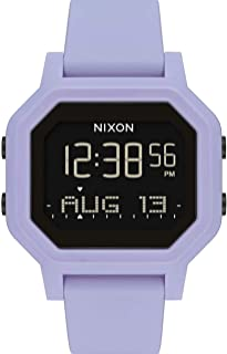 NIXON Siren A1210 - Lilac - 100 Meter / 10 ATM Water Resistant Women's Digital Sport Watch (38mm Watch Face, 18mm-16mm Band)