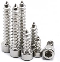 M2 100Pcs Tapping Screws Stainless Steel Hex Socket Cap Head Self-Tapping Screw (M2 x 16mm)