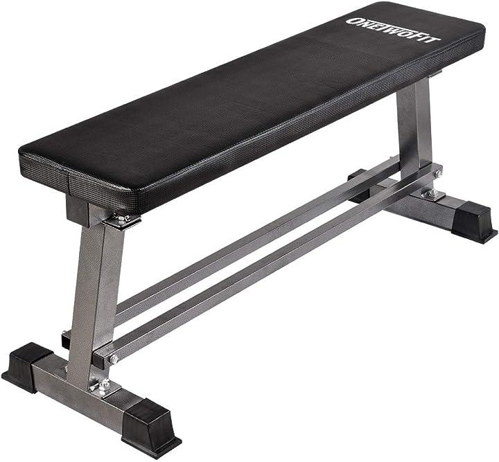 Panca piatta per allenamento pesi - palestra - workout - home gym -onetwofit OT070-OTBE