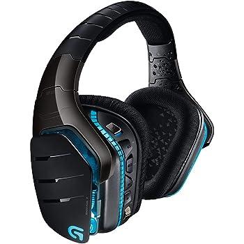 Logitech G933 Artemis Spectrum Wireless Gaming-Headset, 7.1 Surround Sound, 40mm Pro-G Treiber, 2.4 GHz, 3,5mm Eingang, RGB-Beleuchtung, G-Tasten, PC/Mac/Xbox One/PS4/Nintendo Switch - schwarz