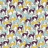 Fabulous Fabrics Baumwollstoff Popeline Windhunde –