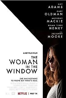 Kvinnan i fönstret (2021) 1filmomslag Affisch Canvastryck VäggkonstDekoration Bild Modernrumsdekor -20x30 tum Ingen r...