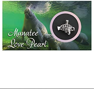 Manatee Necklace Love Pearl Gift Wish Pearl Necklace with Genuine Pearl Inside Pack of One