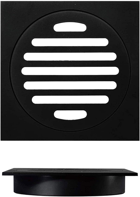 DNZJ Max 52% OFF Drain Cover Square Shower Sh New sales Floor Black Brass