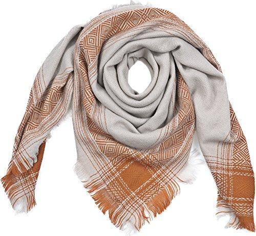 BECKSÖNDERGAARD, sjaals, doeken, wol, cognac, 130 x 130 cm