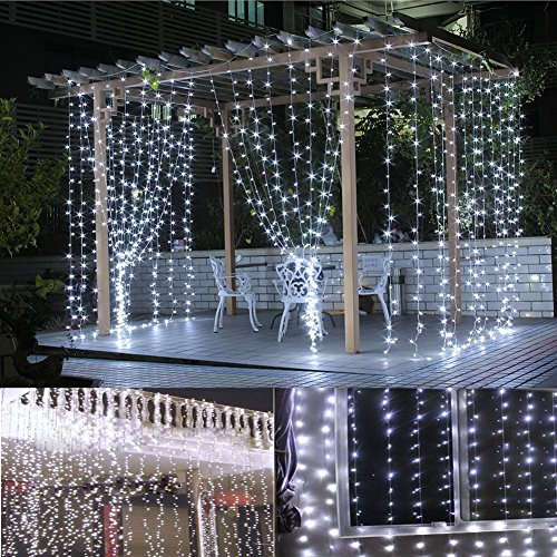 LED Christmas Lights 66 Feet/200 LED Decor, Multiple Flash Modes for Christmas, Party, Wedding, Bedroom, Outdoor Garden and Indoor Decoration, Controllable (White)