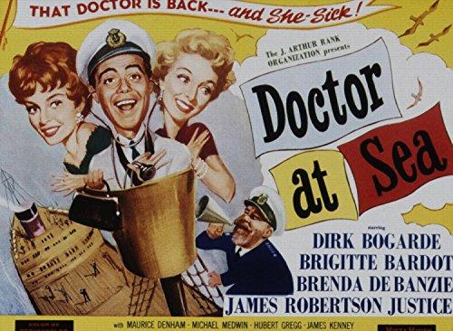 Doctor At Sea, Brigitte Bardot, Dirk Bogarde, Brenda De Banzie, James Robertson Justice, 1 - Foto-Reimpresión película Posters 40x29 pulgadas - sin marco