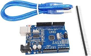 FC-工場 UNO R3開発ボード [改良版] バーション UNO R3 ATmega328P USB Arduinoと互換性 + USB ケーブル