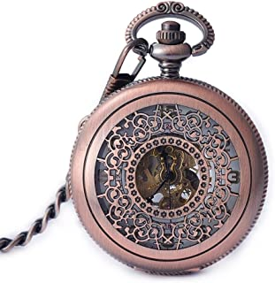 AI LI WEI Men and Women Pocket Watch, Vintage Pocket Watch Students Clamshell Fashion, Fashionable Watch.