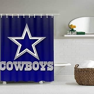 Watercolor Animal Plant Bathroom Decor Fabric Set Polyester Waterproof 80 x72 Inch 10- Pack Hooks Dallas Cowboys