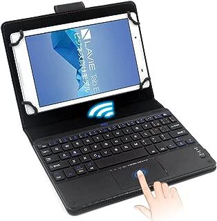 F.G.S キーボードケース 7-8インチ汎用 タッチパッド搭載 Bluetooth キーボード マルチOS対応 (Android/Windows) [JP配列/US配列両方対応] 超薄型 日本語取扱説明書付き ブラック F.G.S正規代理品