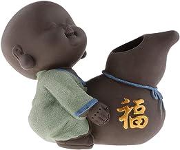 F Fityle Cute Buddha Statue Small Monk Figurine Tathagata India Yoga Mandala Sculptures Tea Pet Ceramic Crafts - Style 07