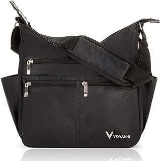Crossbody Bag For Women Nylon Multi Pocket Travel Purse