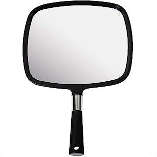 آینه با دستگیره بزرگ و راحت Mirrorvana با دستگیره - مدل آرایشگر به رنگ مشکی (1 بسته)