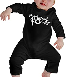 Olyha Baby Long Sleeve Onesies My Chemical Romance MCRMY Punk Band Bodysuit Cotton Infant Romper Outfits for Boys Girls