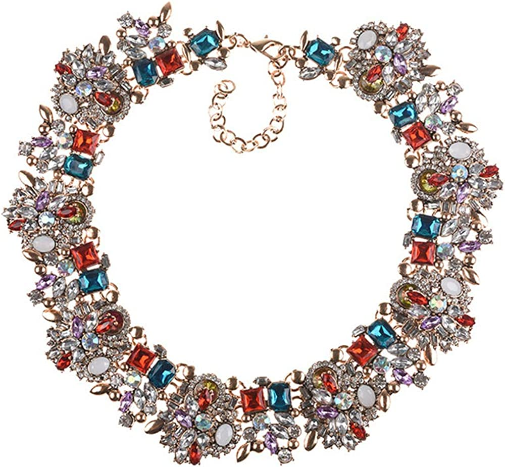 AIHIQI Women's Collar Necklaces Vintage Punk Bib Statement Chunky Cluster Choker Necklace
