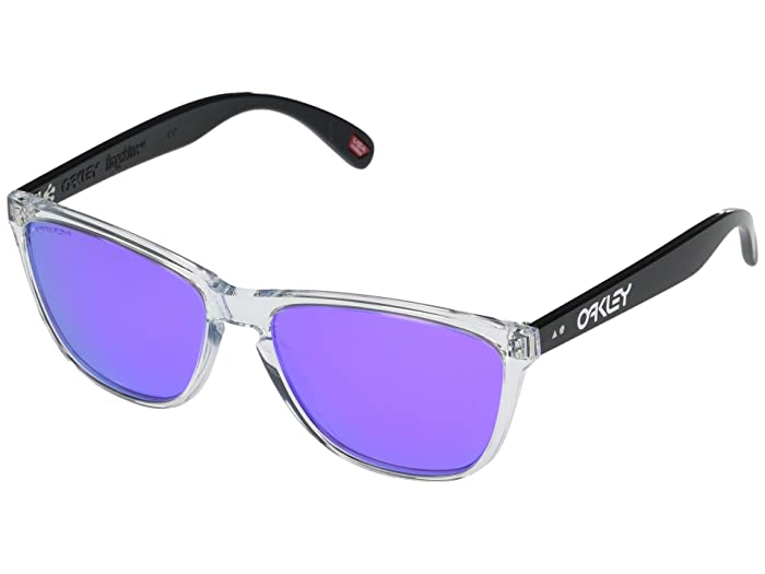 Oakley  57 mm Frogskins 35th Anniversary (Polished Clear Frame Prizm Violet Lens) Fashion Sunglasses