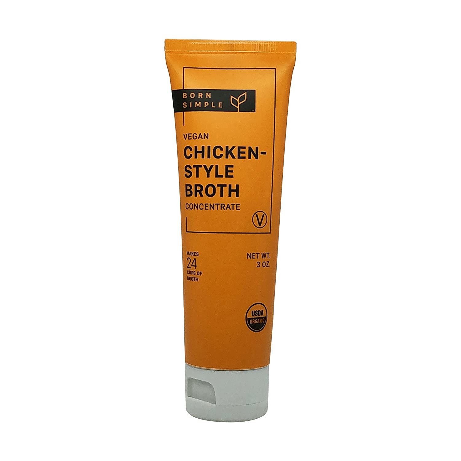 Born Simple Broth Chicken Philadelphia Mall Style Ounce 3 Organic New products world's highest quality popular Concentrate