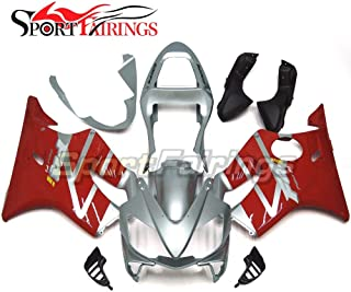 Sportbikefairings Motorcycle Injection ABS Plastic Full Fairings For Honda CBR 600 F4i CBR600F4i 2001 2002 2003 Glossy Silver Red Body Kits Cowlings