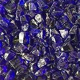 Celestial Fire Glass - Crushed, Cobalt Blue (1/2' to 3/4') | 10 Pound Jar (Renewed)