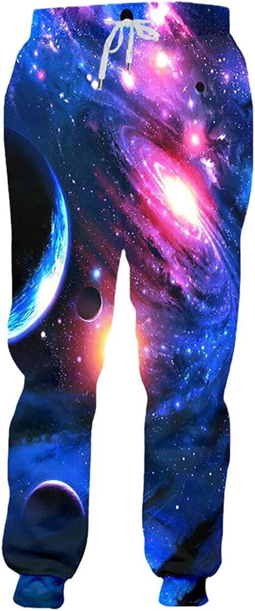 Fashion Starry Sky Space Jogging Pants for Men 3D Printing Jogging Pants Sweatpants Funny Shark Pants