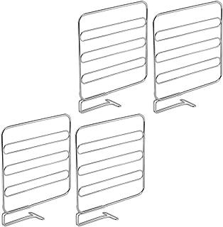 mDesign cloison de séparation pour armoire (lot de 4) – système de rangement pratique en métal – aménagement placard utile...
