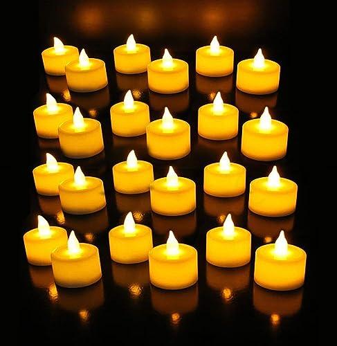 Surat Dream Set of 24 Flameless LED Candles Diya Diwali Lights for Home Decorations