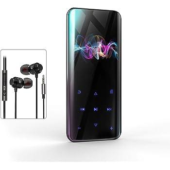 【技術限界突破 鋼製ガラス鏡面】MP3プレーヤー 超軽量 Bluetoothアップデート タッチパネル 音楽プレーヤー 2.4インチHD大画面 3D曲面 ウォークマン HIFI超高音質 デジタルオーディオプレーヤー 小型 録音対応 FMラジオ 16GB内蔵容量 最大128GBまで拡張可能 イヤホン付属24種言語対応 日本語説明書