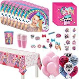 Another Dream Party City JoJo Siwa Mega Deluxe Birthday Party Pack for 16 Guests, Party Supplies, Includes Tableware, Favors and Decor