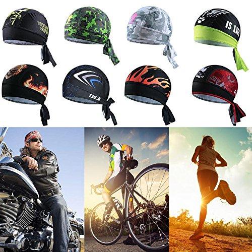 iBaste Outdoor Sport Fahrrad atmungsaktiv Hat Quick-Dry Bike Radfahren Kopftuch Pirat Schal Stirnband - 3
