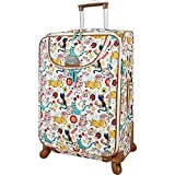 Lily Bloom Luggage Large Expandable Design Pattern Suitcase With...