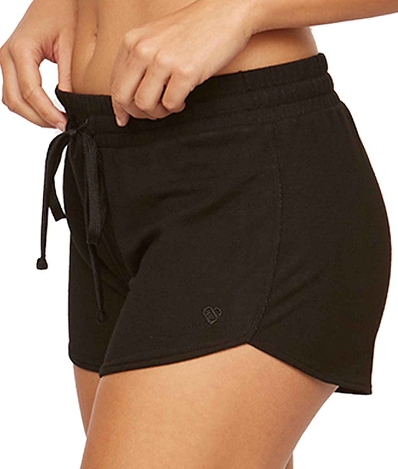 Colosseum Active Women's Four Way Stretch Micro French Terry Yoga and Lounge Short