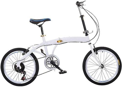 Envio gratis en todas las ordenes GHGJU Coche Individual Bicicleta Plegable Plegable Plegable de 20 Pulgadas, Velocidad de Bicicleta para Adultos, Acero al Carbono, Mini Bicicleta Plegable Adecuado para Carreteras de Montaña, Lluvia y Nieve  precioso