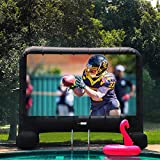 VIVOHOME 14 Feet Indoor and Outdoor Inflatable Blow up Mega Movie Projector Screen with...