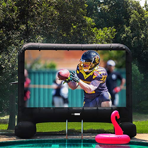 Review VIVOHOME 14ft Indoor and Outdoor Inflatable Blow up Mega Movie Projector Screen with Carry Ba...
