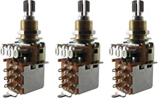 Bourns 500K SHORT Split Shaft Audio Taper Push Pull (DPDT) Potentiometers - Set of Three (3X)