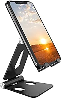 Desktop Cell Phone Stand [Updated Solid Version], Advanced 4mm Thickness Aluminum Stand Holder for Switch, Mobile Phone, i...