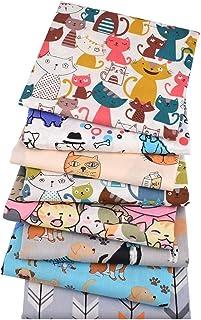 8Pcs 15.7x19.7In Cartoon Animal Series Patchwork Cotton Fabric-Fat Quarters Fabric Bundles Baby-Fat Quarters Fabric Autumn...