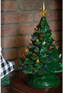 retro christmas lights tree