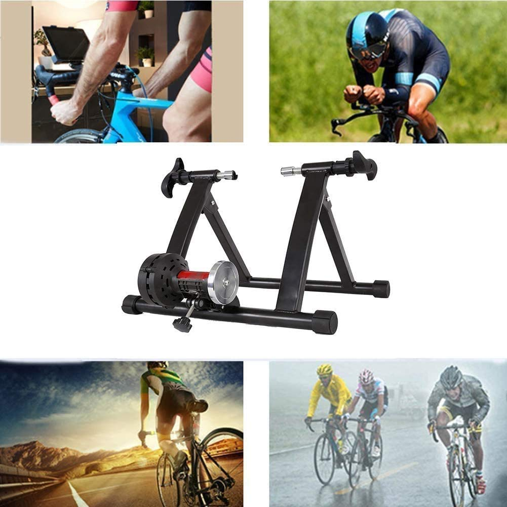 DPPAN Rodillo De Bicicleta De Interior, Bicicleta De Acero Rodillo de Bicicleta Ajustable Entrenador de Bicicleta con Reducción De Ruido Plegable para Bicicleta De ...