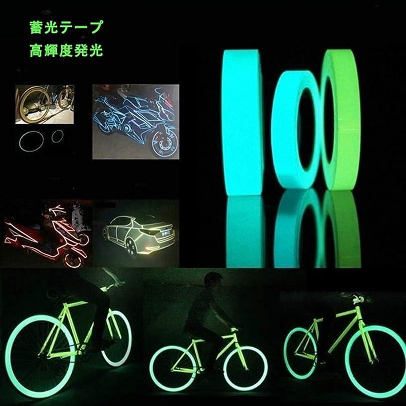 クレジットアリスクレジットLeiome 蓄光 ダークテープの輝き 発光安全テープ ホリデー装飾 発光安全テープ 青、緑10mm×300mm (青)