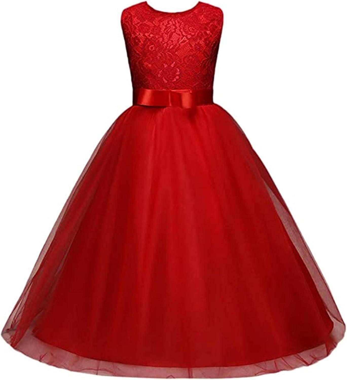 XIANRUN Girl Lace Dress Clothes,Kids Princess Formal Wedding Bridesmaid Long Dress