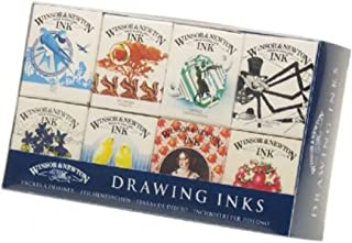 W&N Henry Collection Drawing Inks, 8 -.5oz Bottles