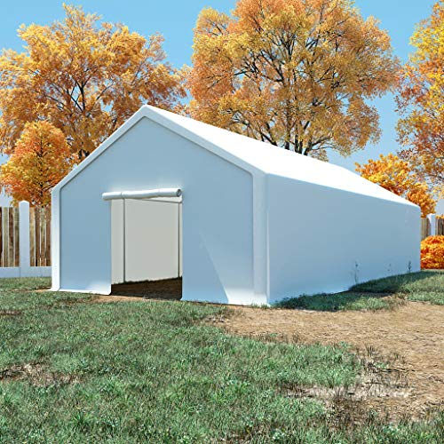 Irfora Storage Tent, Sheds and Outdoor Storage Pe 5x10 M White