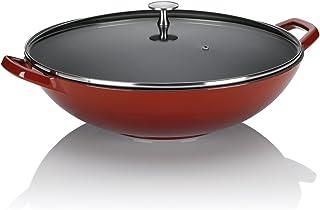Kela 11947 Calido Wok Fonte Émaillée Rouge Diamètre 36 cm 4 L